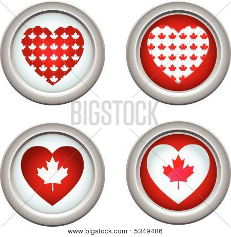 Canada Buttons