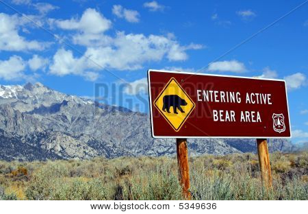 Sign: Beware Bears