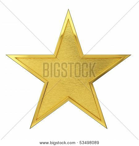 Brushed Golden Star Award