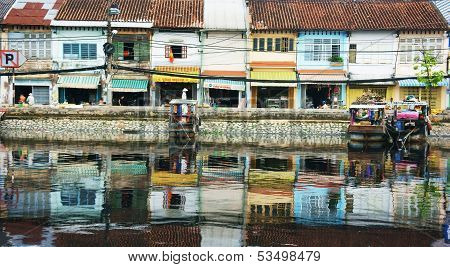 Ancient City Reflect On Water