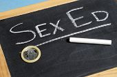 stock photo of precaution  - Sexual education to teach our youth about saftey and precautions - JPG