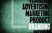 Branding Core Principles as a Concept Abstract poster
