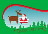 picture of rudolph  - Santa and rudolph christmas background with space - JPG