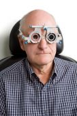 Older Man Having Eye Examination