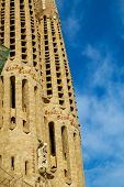 BARCELONA, SPAIN - SEPTEMBER 3: Sagrada Familia steeples on September 5, 2012 in Barcelona, Spain. T