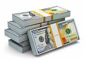 picture of money stack  - Creative abstract business financial success and making money concept - JPG