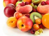picture of plum fruit  - Assortment of juicy fruits - JPG