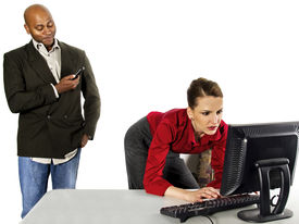 picture of indecent  - business people in office situations - JPG