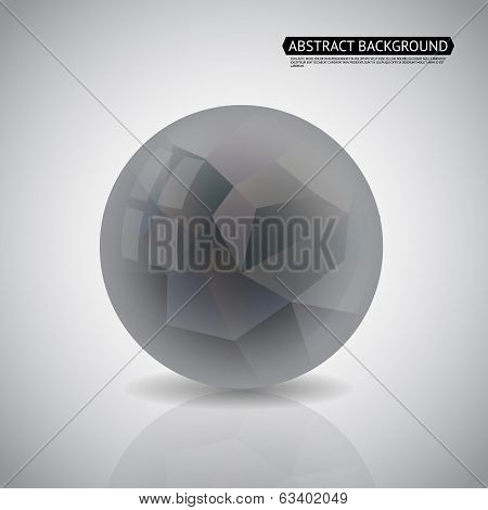 Abstract Geometric Ball Background Vector Illustration
