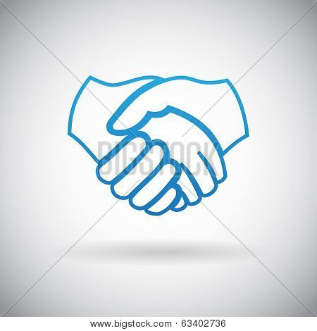 Handshake Cooperation Partnership Icon Symbol Sign Vector Illustration