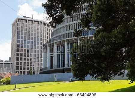 Wellington Beehive Parliament Buildings Nz