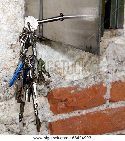 Hanging Keys And A Steel Safe