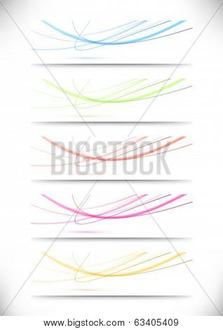Abstract Swoosh Lines Namecards Collection For Business