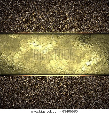 Gold Texture Dust With Gold Edges And Gold Trim