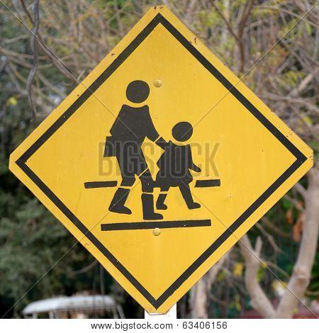 Traffic Sign School Warning Sign