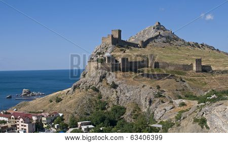 Genoese Castle In The Crimea