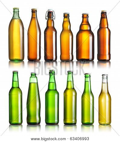 Collection Of Beer Bottles