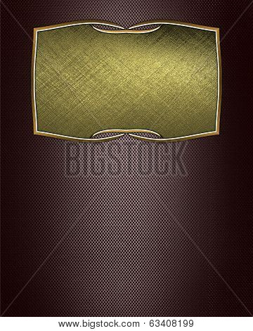 Brown Texture With Gold Nameplates With A Beautiful Finish