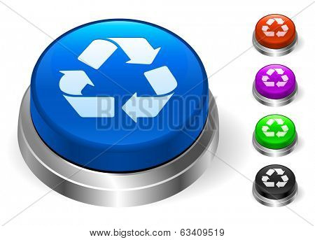 Recycle Icons on Round Button Collection
