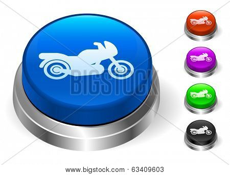 Motocycle Icons on Round Button Collection