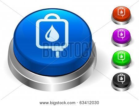 Blood Drip Icons on Round Button Collection