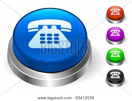 Telephone Icons on Round Button Collection