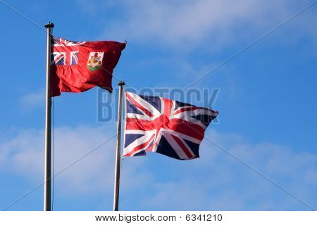 Bermuda And British Flags