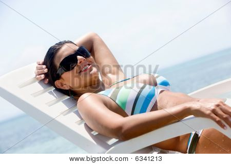 Casual Woman On Vacation