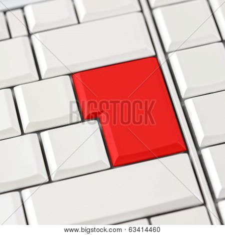 Red Button On Keyboard