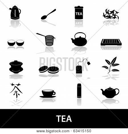 tea icons eps10