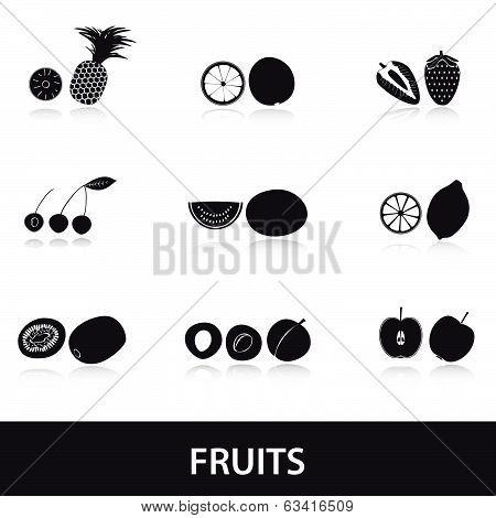 fruits and half fruits eps10