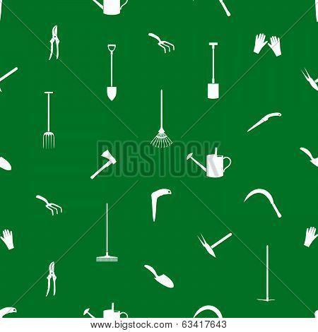 gardening tools pattern eps10