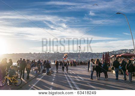 Seafront Promenade, Naples, Italy