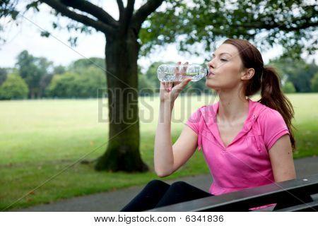 Sporty Woman Resting