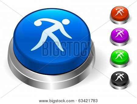 Bowling Icons on Round Button Collection