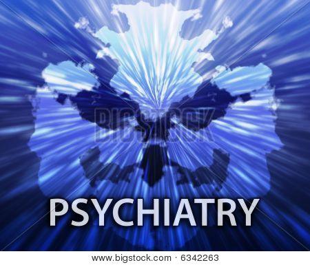 Psychiatry Inkblot Background