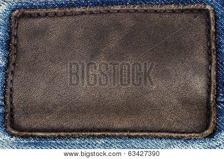 Black Leather Jeans Label