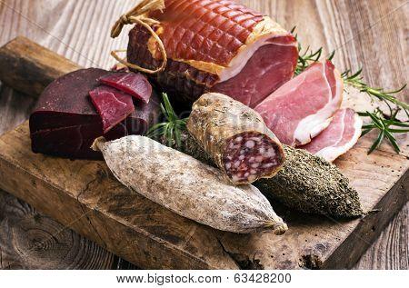 salami and ham