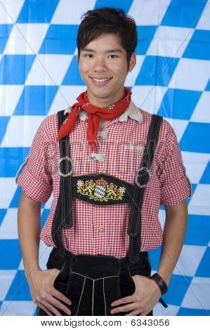 Boy With Bavarian Oktoberfest Leather Trousers (lederhose)