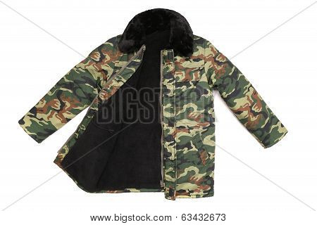 Camouflage winter jacket.