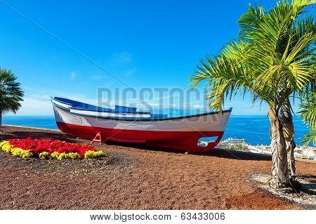 Old Boat. Puerto De Santiago, Tenerife, Spain