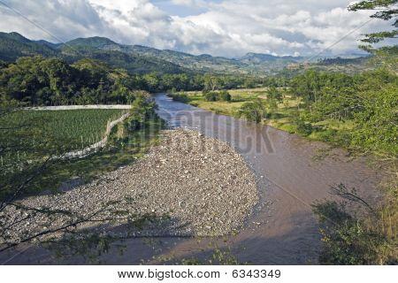 River In Copan Ruins