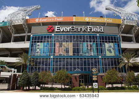 JACKSONVILLE, FL - APRIL 13, 2014: EverBank Field in Jacksonville. EverBank Field is an American Football Stadium in downtown Jacksonville.