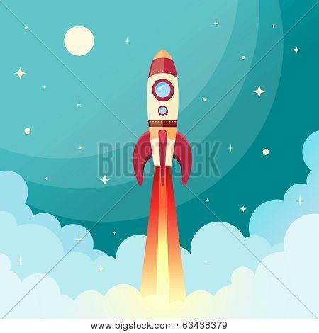 Startup Rocket Ship