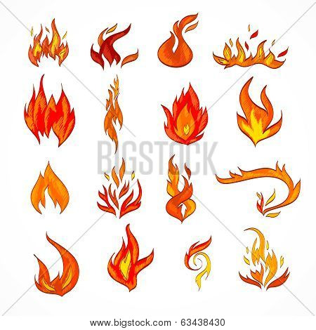 Fire Icon Sketch