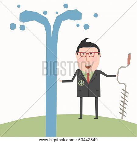 Business concept - artesian water