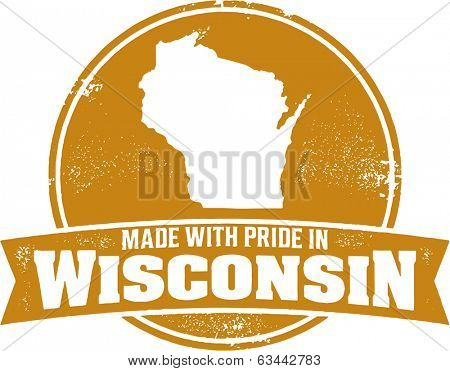 Made with Pride in Wisconsin Badge Stamp