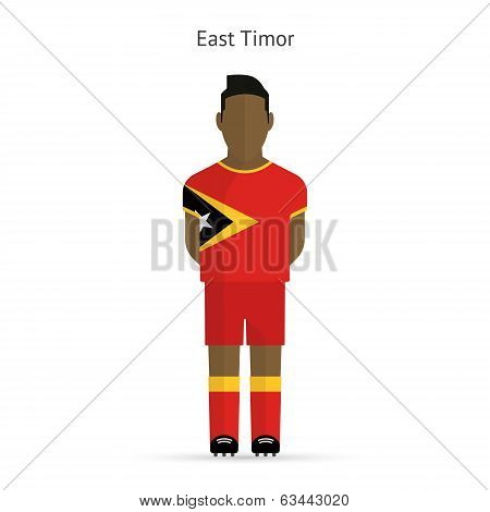 East Timor football player. Soccer uniform.