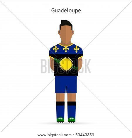 Guadeloupe football player. Soccer uniform.