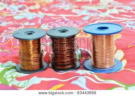 Three Rolls Of Wire